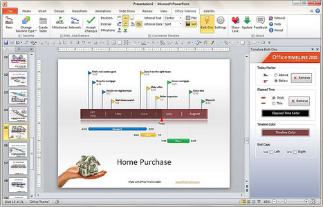 Create Beautiful Timelines, Gantt Charts, and Project Schedules in Microsoft PowerPoint 2007 and 2010 With Just a Few Clicks!  Free Add-in, Download Now! | Timeline | Scoop.it