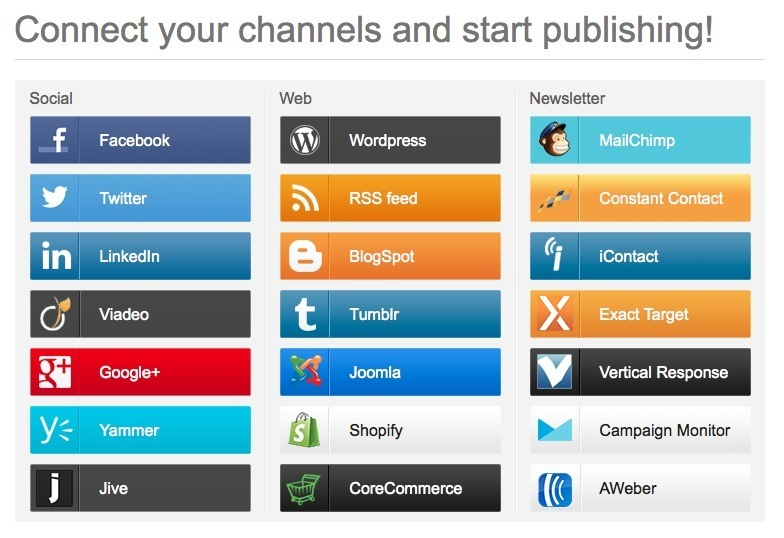Aggregate, Curate and Publish Across Web, Socia...