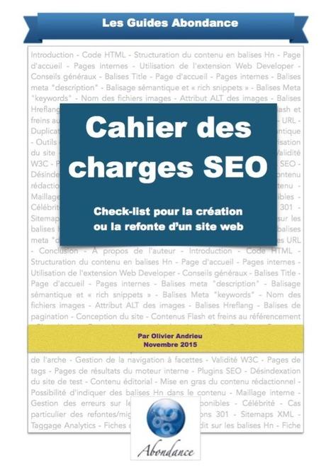 Guide PDF : Cahier des Charges SEO - Check-list pour la création ou la refonte d'un site web - Actualité Abondance | Visibilité locale sur le Web | Scoop.it