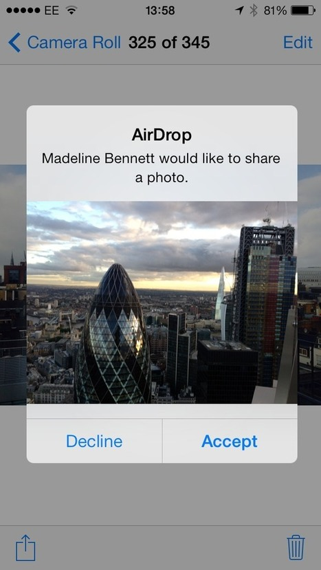 How to use AirDrop to send and receive files on Apple iOS 7 - V3.co.uk (blog) | iPhoneography-Today | Scoop.it