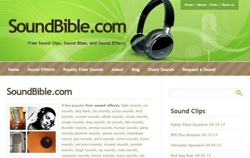 SoundBible, gran colección de sonidos y efectos sonoros gratis para tus proyectos