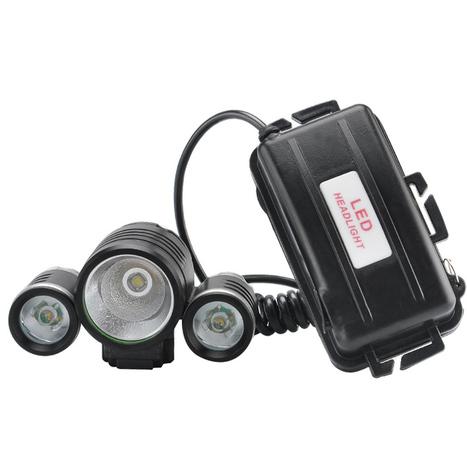 Rechargeable LED Bike Headlamp (1800 Lumens, CREE XM-L T6 LED + 2x R2 LEDs, 4 Modes) | cool electronics gadgets | Scoop.it