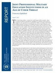 New Study: Senior U.S. Military Schools Struggle to Include Cyber Education in Curricula | Cyber | Scoop.it