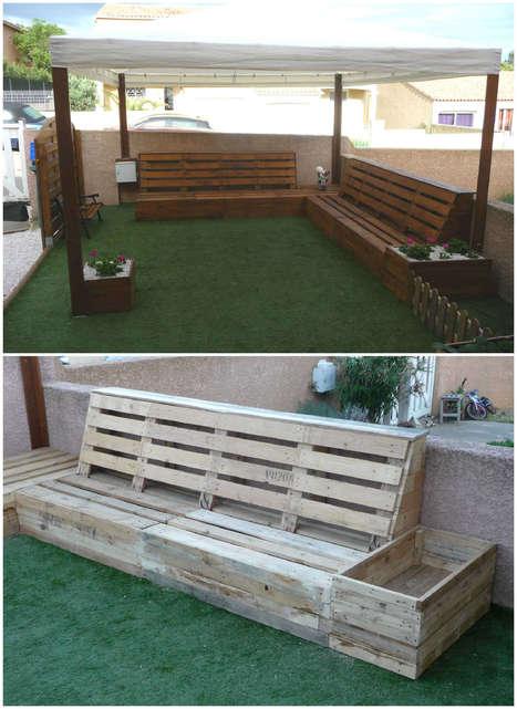 Complete Pallet Garden Set   1001 Pallets ideas !   Scoop.it