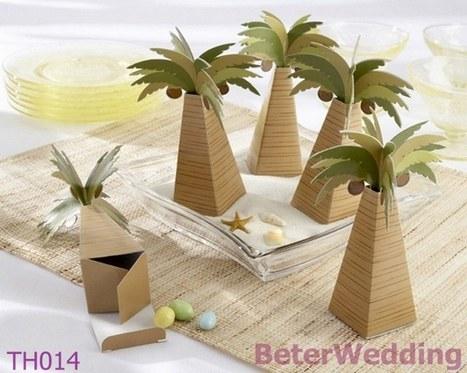棕榈树喜糖盒,糖果盒,创意婚品,婚庆礼品 倍乐婚品TH014 http://superhappyfavors.taobao.com | Wedding Gifts | Scoop.it