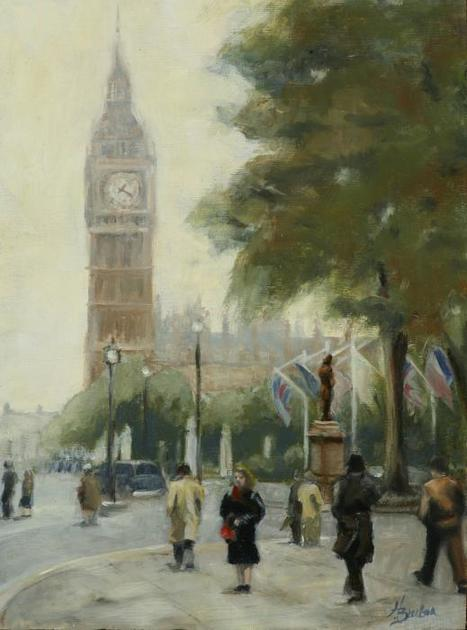 """Big Ben Painting"" Heather Burton 