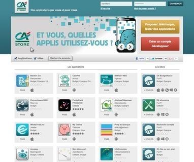 Lancement d'une plateforme de co-création et de téléchargement d'applications bancaires. | Innovation banque | Scoop.it