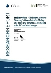 Stable Policies, Turbulent Markets-Germany's Green Industrial Policy: The costs and benefits of promoting solar PV and wind energy | Sustainable Development | Scoop.it