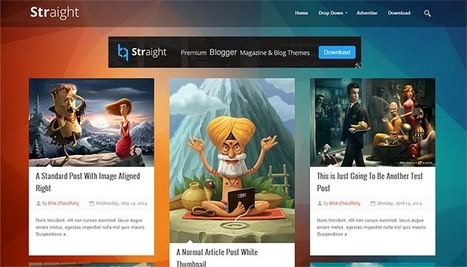 Straight Responsive Blogger Template | Blogger Templates | Scoop.it