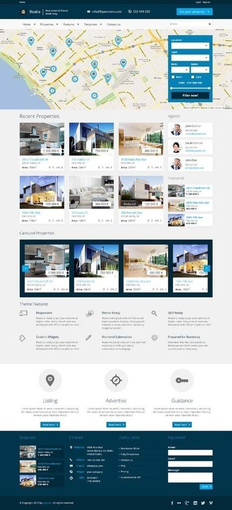 Realia, WordPress Google Maps Ready Real Estate Theme | WP Download | crisgarcia | Scoop.it