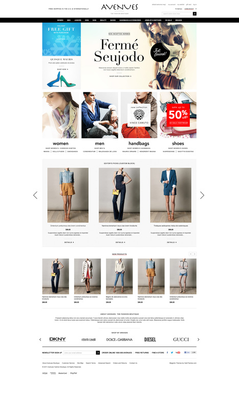 Go Avenues - Responsive Fashion Magento Go Theme - HaloThemes.com | Magento Templates | Scoop.it
