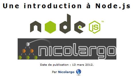 Une introduction à node.js | Time to Learn | Scoop.it
