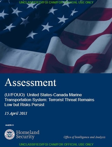 (U//FOUO) DHS U.S.-Canada Marine Transportation System Terrorist Threat Assessment | | Chinese Cryptography | Scoop.it