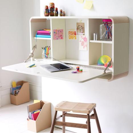 Un bureau pliable pour les petits espaces | DecoCrush blog déco, idées déco | ♥Inspiration, coups de coeur & creation♥ | Scoop.it