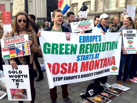 Romanians protest in Trafalgar Square against cyanide mining in Rosia Montana | Save Rosia Montana | Scoop.it