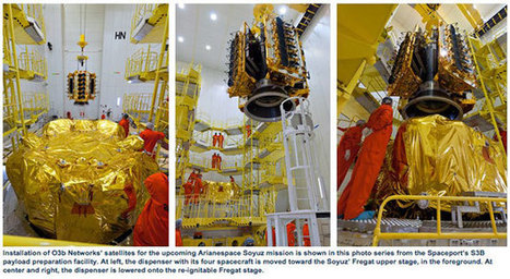 Final Payload Integration Begins for O3b Networks' Four Satellites to be Orbited on the Next Arianespace Soyuz Mission | SpaceRef - Your Space Reference | Satellite Communications | Scoop.it