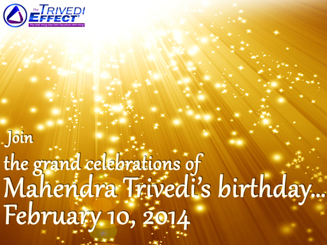 Mahendra Trivedi's birthday: Join in the celebrations on this special day | Mahendra Kumar Trivedi | Scoop.it