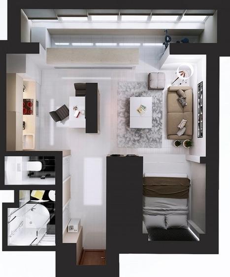 Ultimate Studio Design Inspiration: 12 Gorgeous Apartments | Designing Interiors | Scoop.it