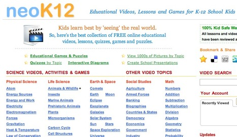 Educational Videos and Games for Kids about Science, Math, Social Studies and English | EDU 204 | Scoop.it