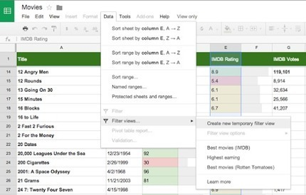 Sort and filter data on view-only spreadsheets with Filter Views<br/><br/>Ever need to filter or sort data on...   Google Product News   Scoop.it
