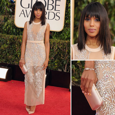 Kerry Washington Shows off Blunt Bangs and Bob At The 2013 Golden Globe Awards | Easy Waves on styling you can see and feel | Scoop.it