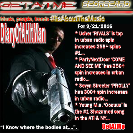 GetAtMe DiaryOfAHitMan Scorecard Usher's RIVAL is #1 in urban radio spin increases... #ToldYall | GetAtMe | Scoop.it