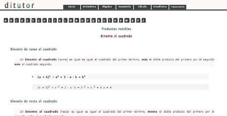 Productos notables | Álgebra | Scoop.it