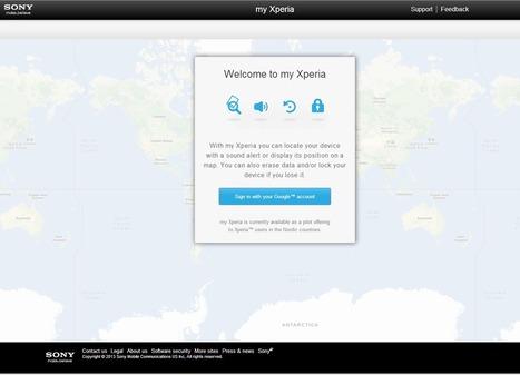 Sony My Xperia : pour retrouver et protéger son téléphone portable | Geeks | Scoop.it