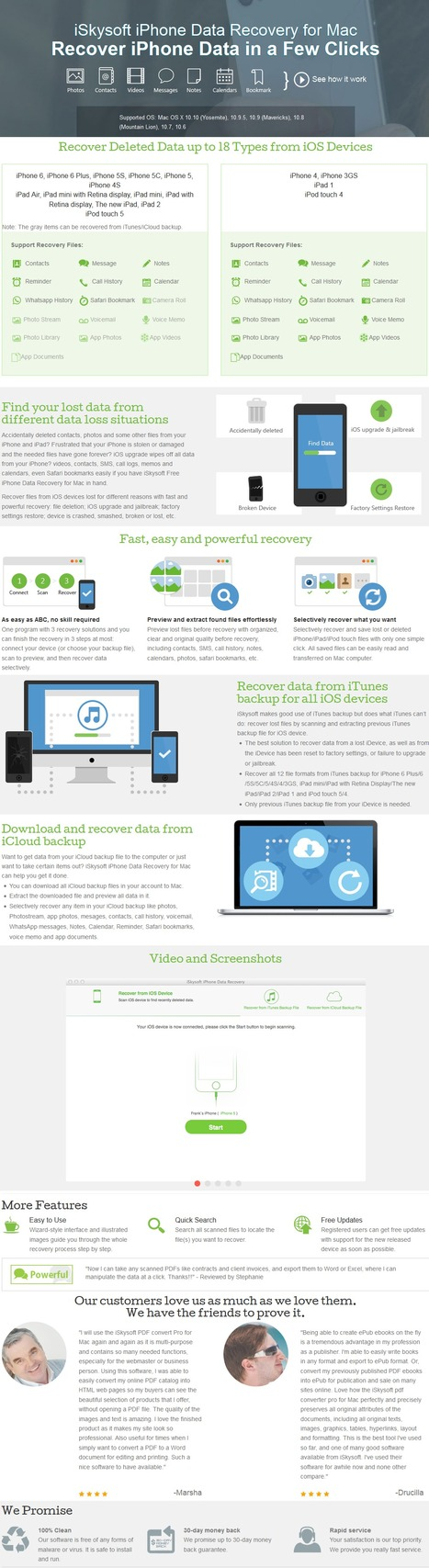 50% Off - iSkysoft iPhone Data Recovery for Mac with Discount Coupon code   Data Recovery Software Coupon Codes   Scoop.it