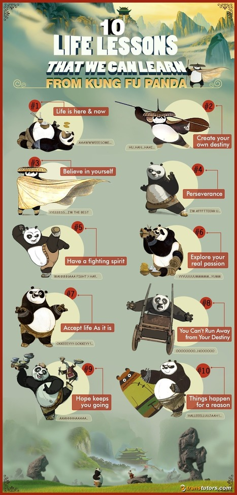 10 Life Lessons From Kung Fu Panda Infographic - e-Learning Infographics | Create: 2.0 Tools... and ESL | Scoop.it