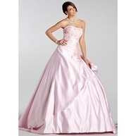 [US$ 243.99] Ball-Gown Sweetheart Court Train Satin Wedding Dress With Embroidered Ruffle Beading Sequins (021005232)   fantastic dresses   Scoop.it