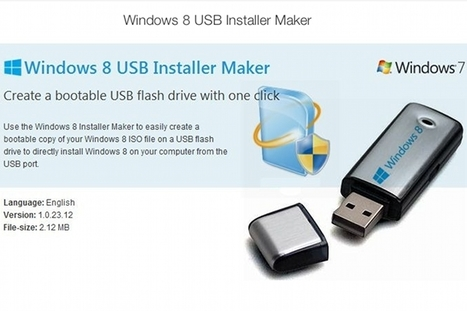 Créer une clé USB bootable pour Windows 8 avec Win8USB | Time to Learn | Scoop.it