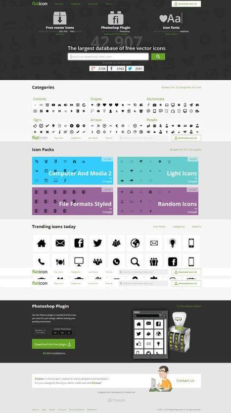 [Webdesign] FlatIcon, 43000 icônes gratuites | [Franck Confino] Digital tools | Scoop.it