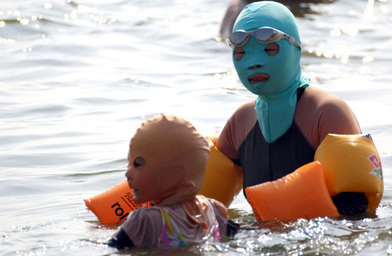 #Cinese' #Fashion #Summer on #Beaches The #Face-Kini | Le It e Amo ✪ | Scoop.it