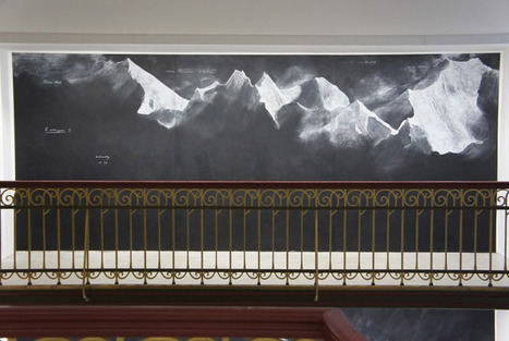 chalk-on-blackboard depictions of afghanistan mountains by tacita dean | Visual Culture and Communication | Scoop.it