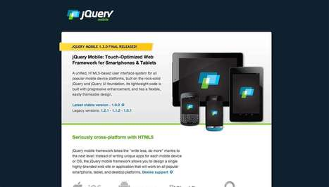 jQuery Mobile 1.3 | Library and the Web design | Scoop.it