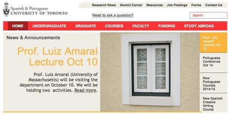 Prof. Luiz Amaral at the University of Toronto | The UMass Amherst Spanish & Portuguese Program Newsletter | Scoop.it