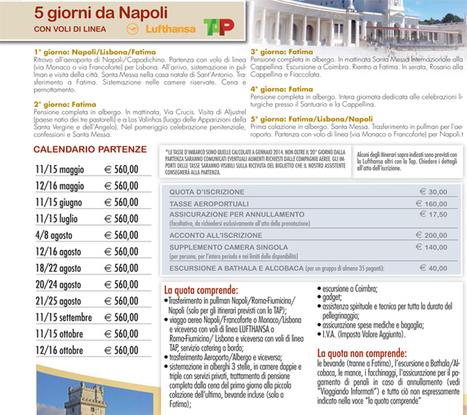 Pellegrinaggio Fatima | Pellegrinaggi di Fede | Scoop.it