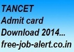 TANCET Admit card Download 2014 www.annauniv.edu Hall Ticket Exam syllabus freejobalert | FREEJOBALERT | Scoop.it