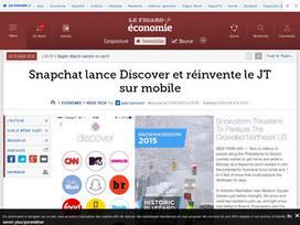 Snapchat lance Discover et réinvente le JT sur mobile | veiller | Scoop.it