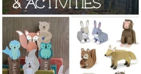 50 FREE Forest Animal Crafts & Activities | Arts & Crafts | Scoop.it