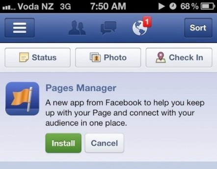 Facebook launches dedicated Pages Manager app, | Artdictive Habits : Sustainable Lifestyle | Scoop.it