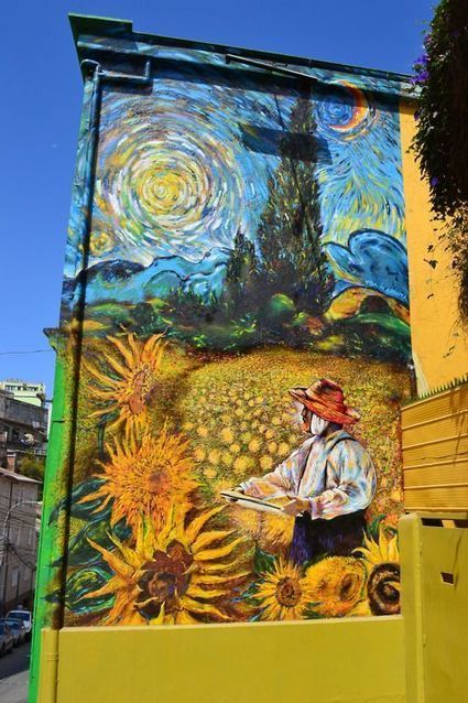 Teo Doro paints Van Gogh mural in Valparaiso | BA Street Art | World of Street & Outdoor Arts | Scoop.it