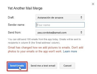 En la nube TIC: Correos personalizados con Yet Another Mail Merge | Herramientas web 2.0 | Scoop.it