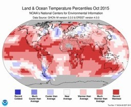 NOAA reports record global warmth for October 2015 | Farming, Forests, Water, Fishing and Environment | Scoop.it