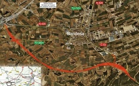 La variant de la C-43 a Gandesa, sobre el mapa | #territori | Scoop.it
