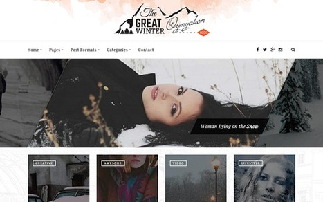 Oymyakon New Responsive WordPress Blog Template | Collection of creative themes and templates. | Scoop.it