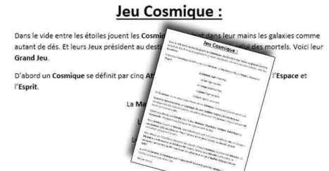 scriiipt : Téléchargez et Jouez à Jeu Cosmique jeu de rôle en moins de 250 mots | Jeux de Rôle | Scoop.it