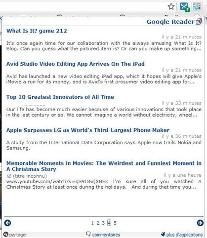 Easy Reader : suivez en temps réel les notifications de Google Reader dans la barre d'outils de Chrome | Prionomy | Scoop.it