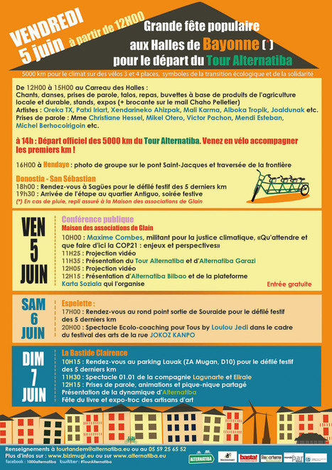 Départ du Tour ALTERNATIBA le 05 juin ! - Alternatiba | actions de concertation citoyenne | Scoop.it